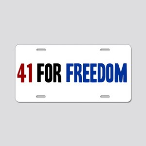 41 for Freedom Aluminum License Plate