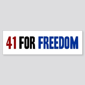 41 for Freedom Sticker (Bumper)