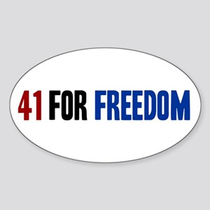 41 for Freedom Sticker (Oval)