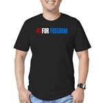 41 for Freedom Men's Fitted T-Shirt (dark)