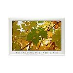 Vineyard Turning Leaf Rectangle Magnet (100 pack)