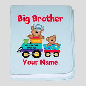 Big Brother Train baby blanket