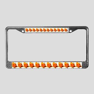 Yellow Rosebud License Plate Frame