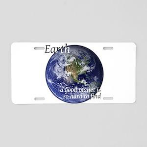 A Good Planet Aluminum License Plate