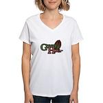 Green Hoe Women's V-Neck T-Shirt