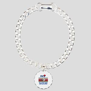 My Love Swaziland Charm Bracelet, One Charm