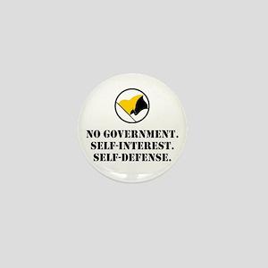 No Government Mini Button