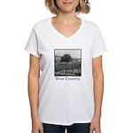 Wine Country Women's V-Neck T-Shirt