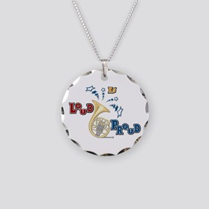 French Horn Loud Is Proud Necklace Circle Charm