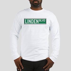 Linden Boulevard Sign Long Sleeve T-Shirt