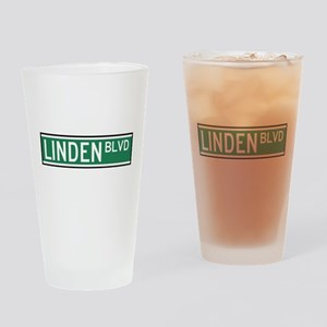 Linden Boulevard Sign Drinking Glass