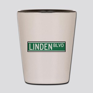 Linden Boulevard Sign Shot Glass