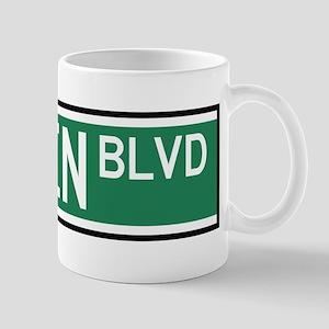 Linden Boulevard Sign Mug