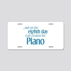 Piano Creation Aluminum License Plate