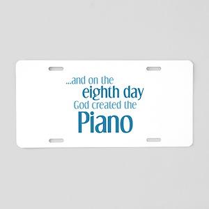 Piano Creation Aluminum License Plate