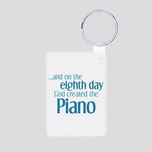 Piano Creation Aluminum Photo Keychain
