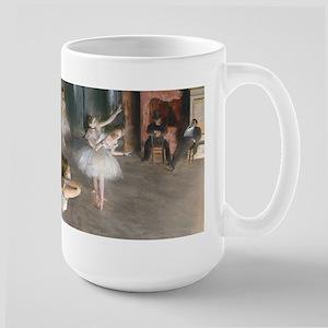 Degas - Rehearsal Onstage Large Mug