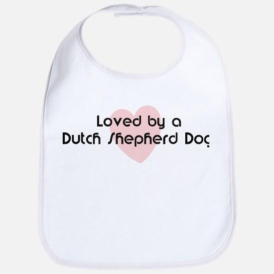 Loved by a Dutch Shepherd Dog Bib