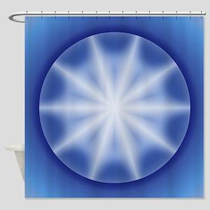 Blue Star Globe Shower Curtain