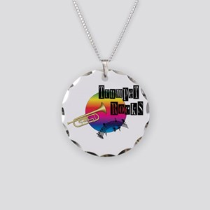 Trumpet Rocks Necklace Circle Charm