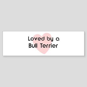 Loved by a Bull Terrier Bumper Sticker