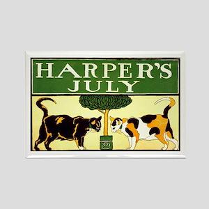 Harper's July Rectangle Magnet