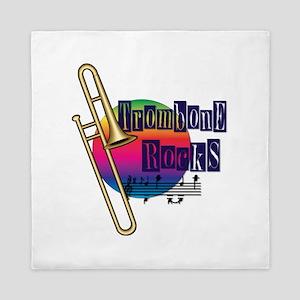Trombone Rocks Queen Duvet