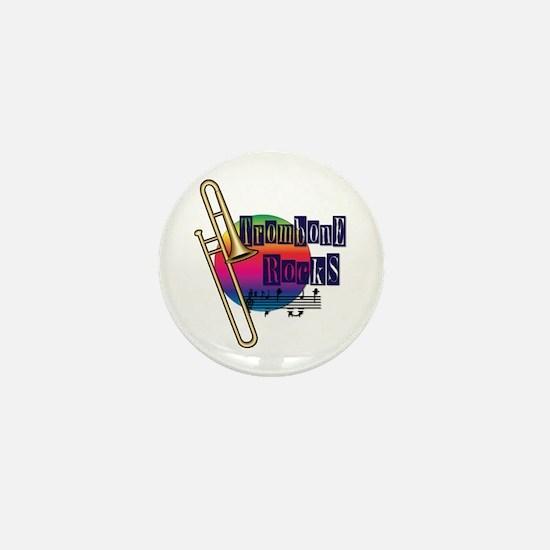 Trombone Rocks Mini Button