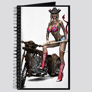 Hellbilly Biker Devil Girl Journal