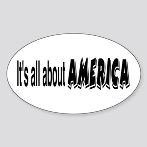 All About America Oval Sticker