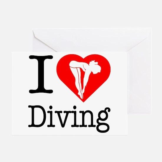 I Love Diving Greeting Card