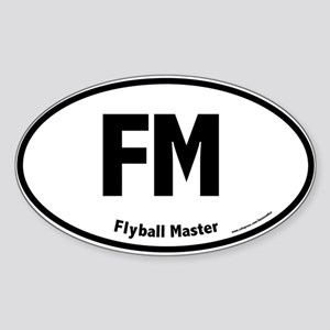 FM, Flyball Master, 5,000, Oval Sticker