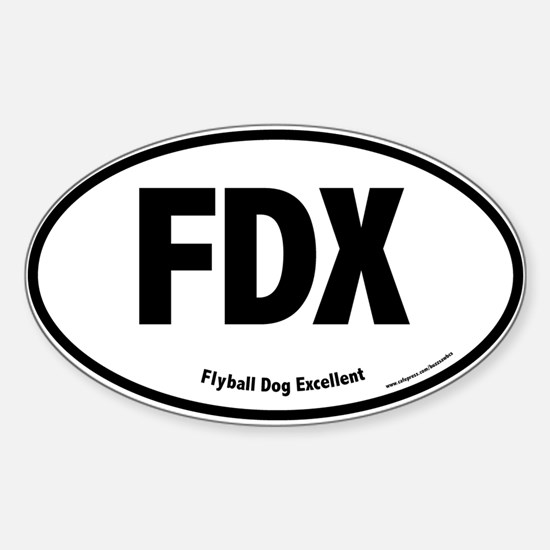 FDX, Flyball Dog Excellent, 100, Oval Decal