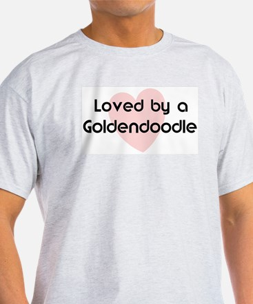 Loved by a Goldendoodle Ash Grey T-Shirt