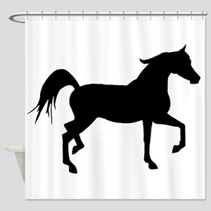 Arabian Horse Silhouette Shower Curtain