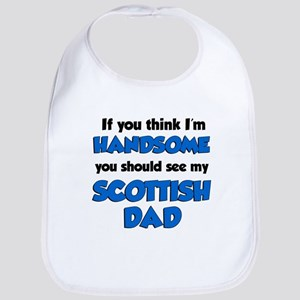 Handsome Scottish Dad Bib