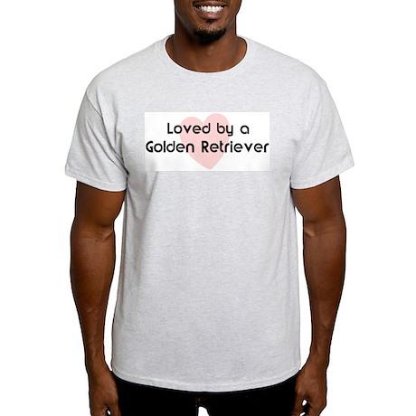 Loved by a Golden Retriever Ash Grey T-Shirt