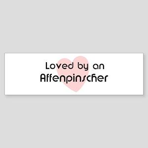 Loved by an Affenpinscher Bumper Sticker