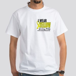 I Wear Yellow 10 Endometriosis White T-Shirt