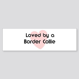 Loved by a Border Collie Bumper Sticker