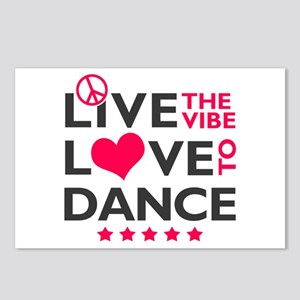 Live Love Dance Postcards (Package of 8)