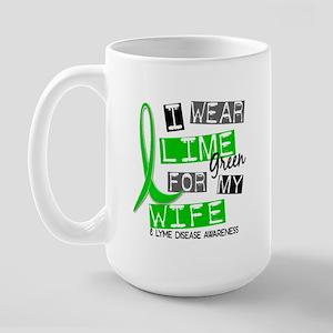 I Wear Lime 37 Lyme Disease Large Mug