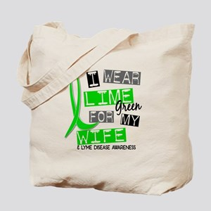I Wear Lime 37 Lyme Disease Tote Bag