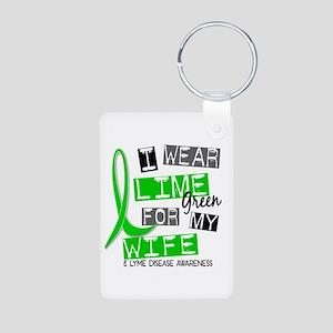 I Wear Lime 37 Lyme Disease Aluminum Photo Keychai