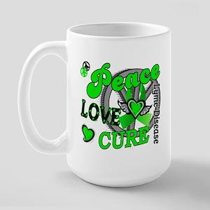 Peace Love Cure 2 Lyme Disease Large Mug