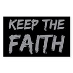 Keep the Faith Sticker (Rectangle)