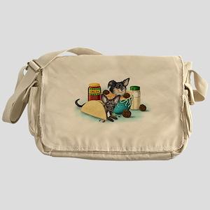 Taco-Paco & Meatball Chihuahu Messenger Bag