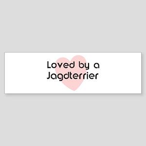 Loved by a Jagdterrier Bumper Sticker