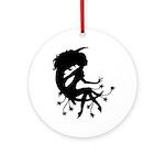 Moon Maiden Ornament (Round)