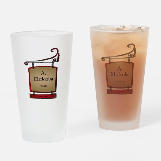 Jamie A. Malcolm Printer Drinking Glass